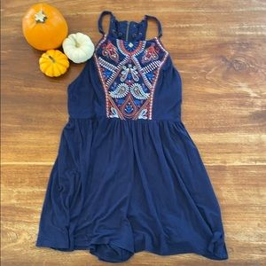 Navy romper by exhilaration size extra small
